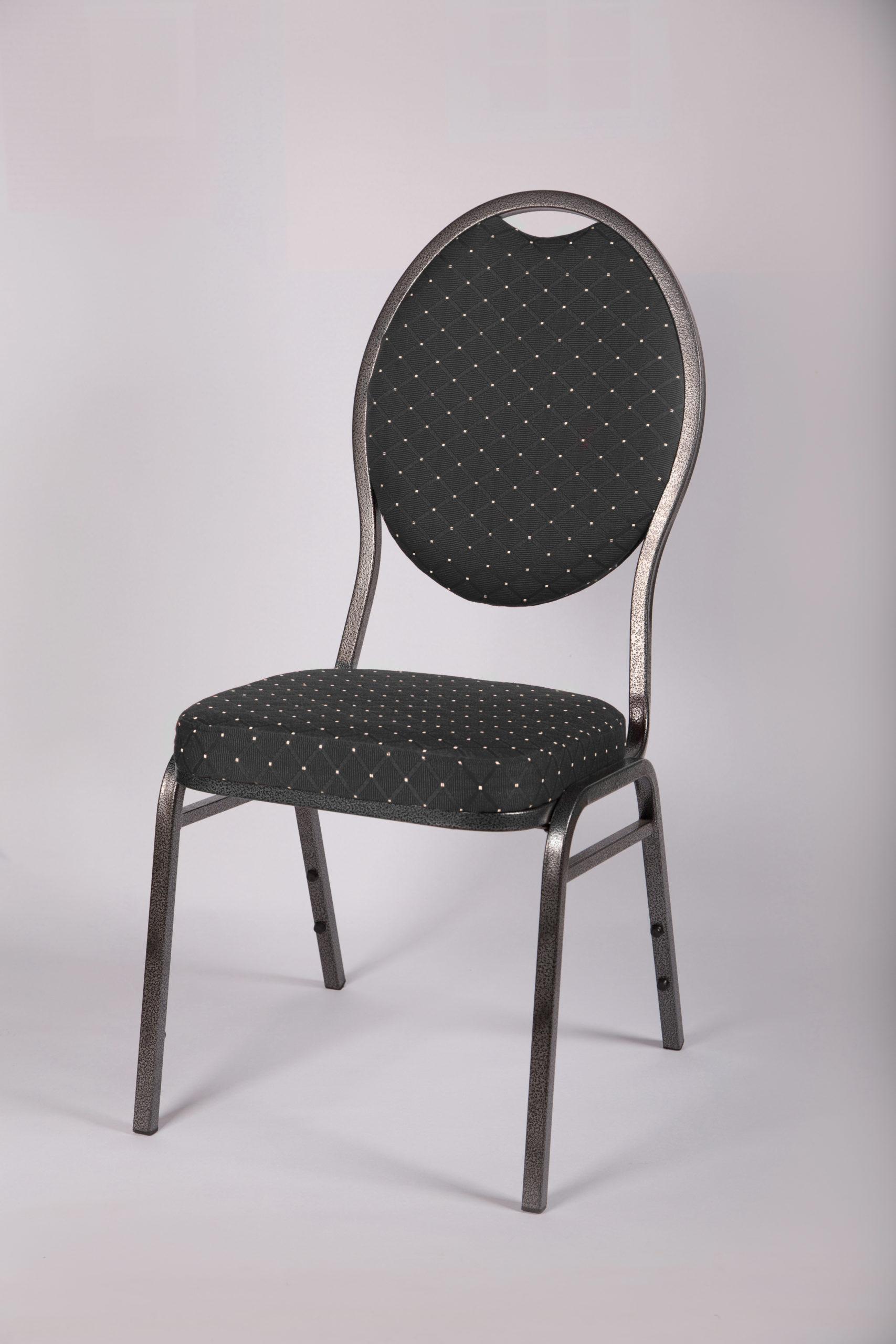 Bankettstuhl Stuhl gepolstert schwarz