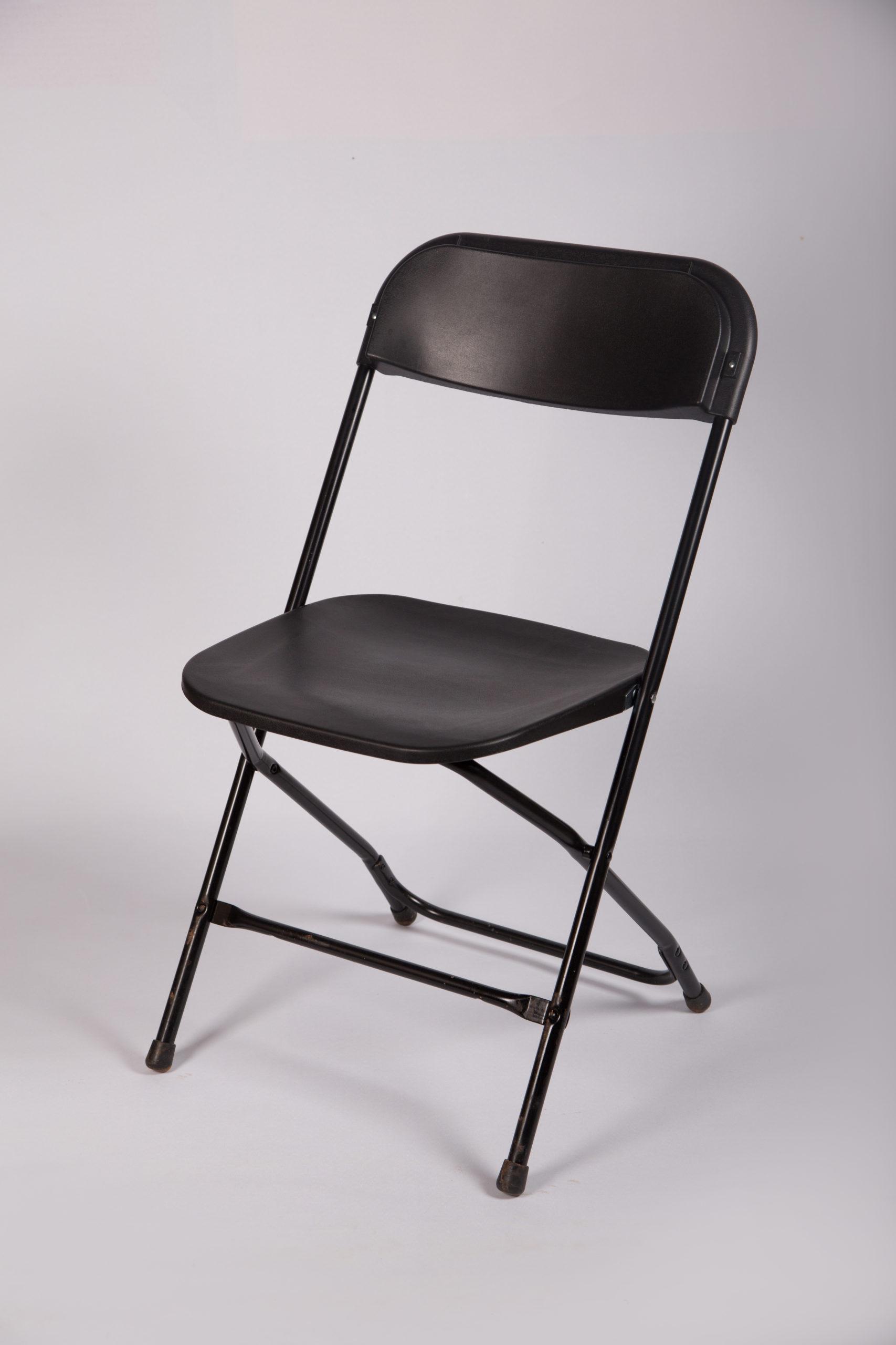Klappstuhl Kunststoffstuhl Stuhl schwarz