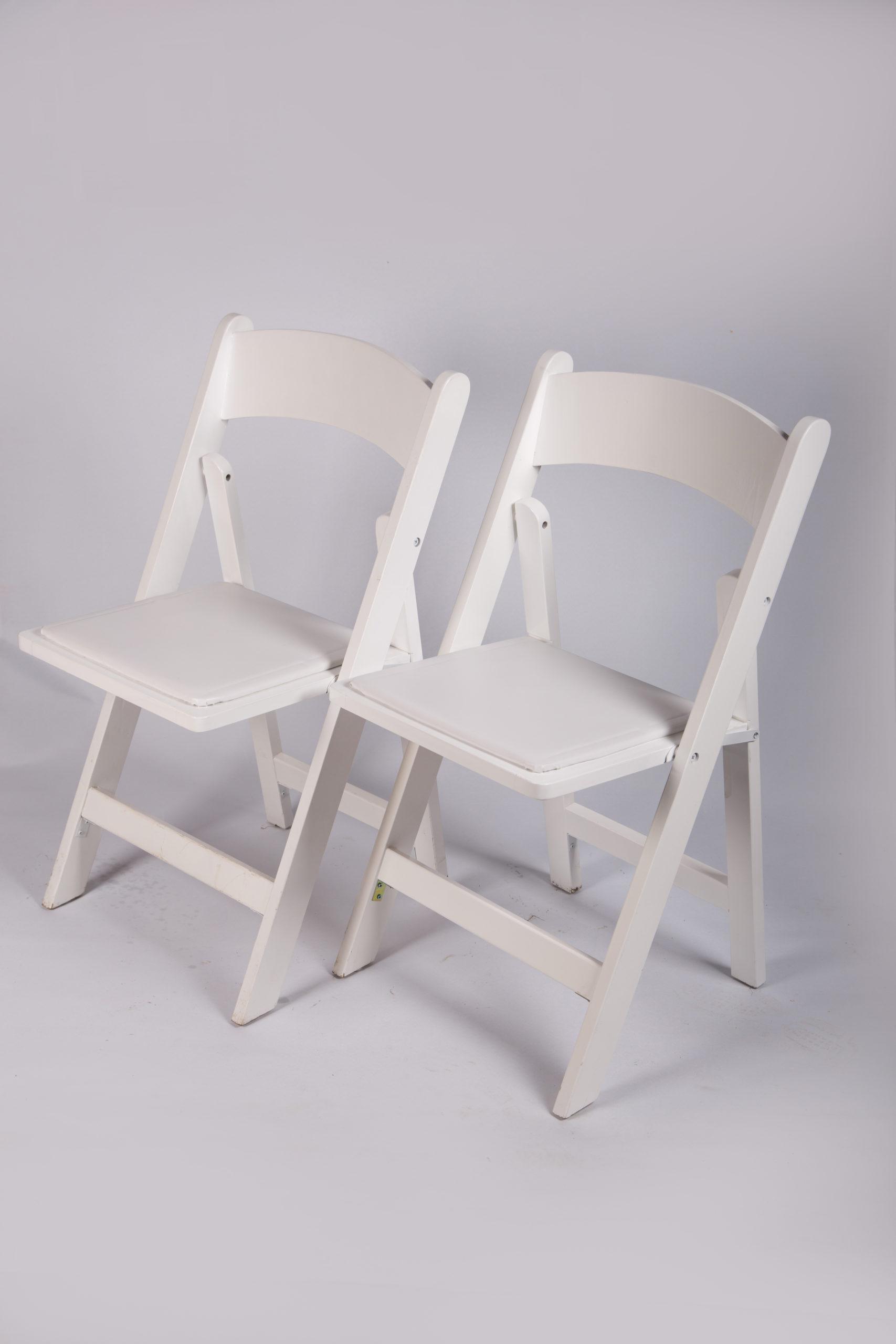 Hochzeitsstühle Stühle weiß Holz Polster gepolstert