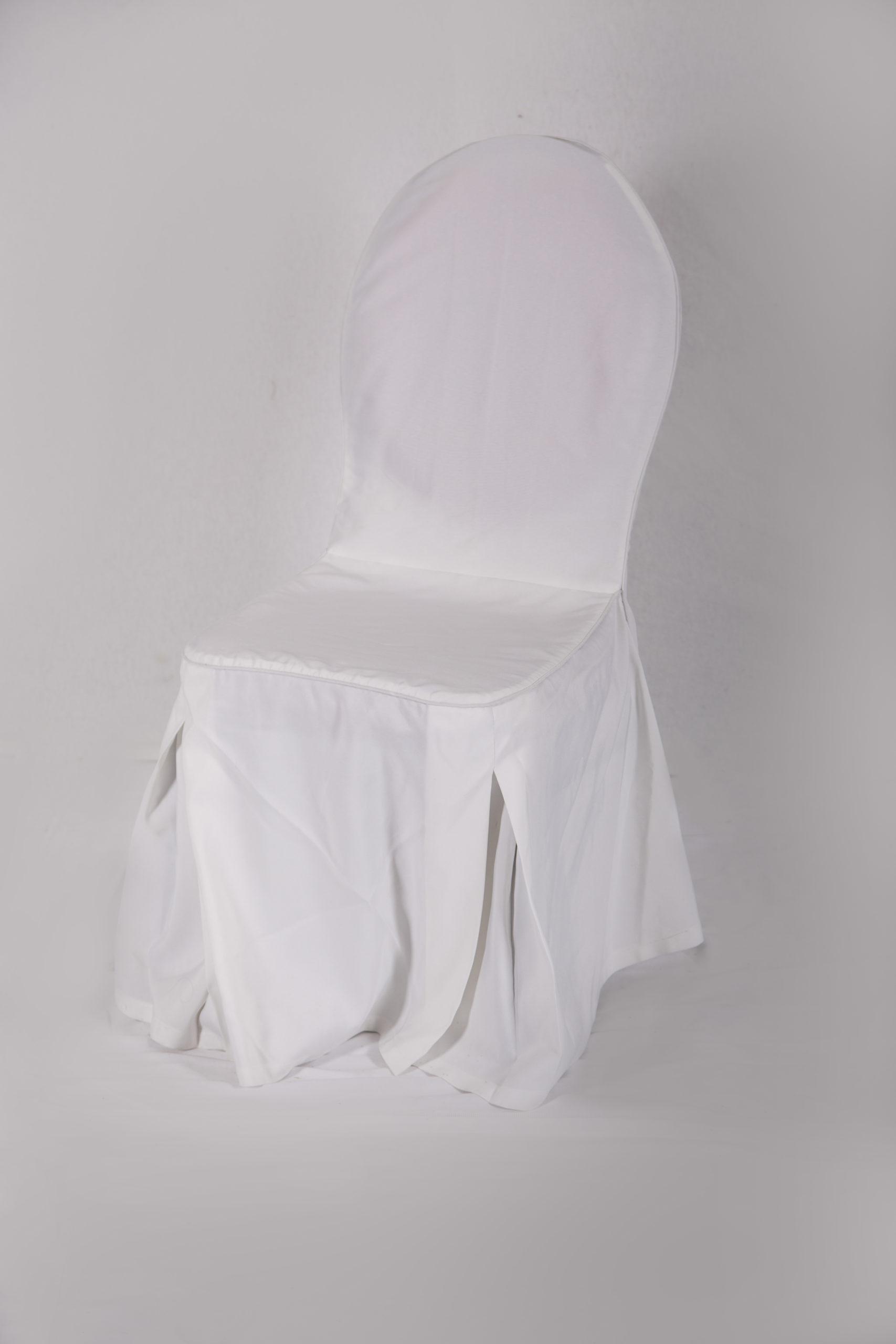 Bankettstuhl mit Husse Stuhl mit Husse Stuhlhusse gepolstert weiß