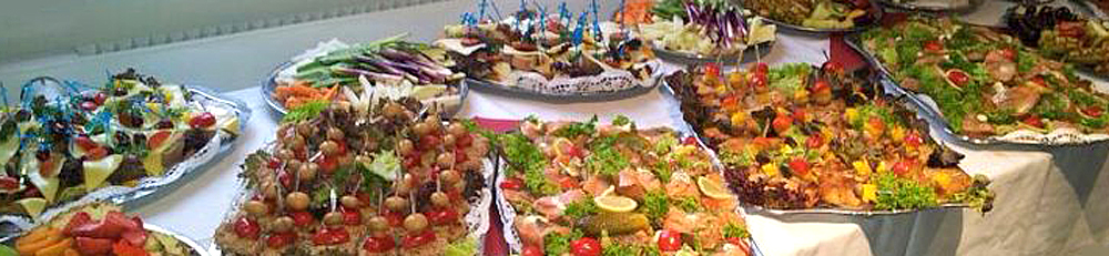 Catering, kaltes Buffet, Fingerfood