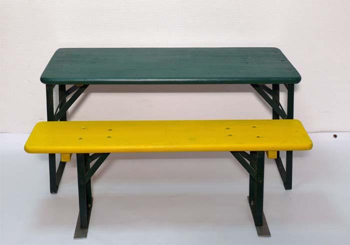 Biertischgarnitur Kinder Kindergarnitur Holz 2 Bänke 1 Tisch zwei Bänke 1 Tisch klappbar mieten Verleih leihen ausleihen