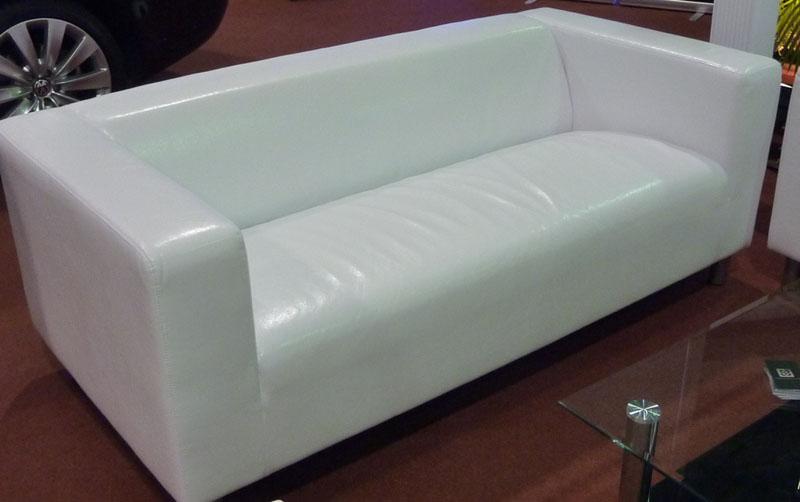 Sofa Kunstleder weiß