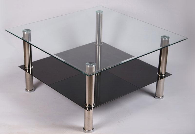 Loungetisch mit Ablage viereckig