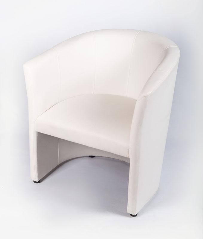 Sessel Kunstleder weiß, schwarz, rot